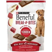 Purina Beneful Break-N-Bites Tender Real Beef With Barley & Apples Dog T... - $33.65 CAD