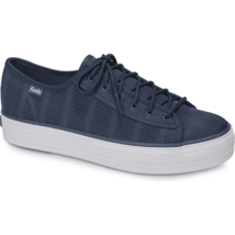 Keds WF58055 Women's Triple Kick Striped Mesh Indigo Shoes, 9.5 Med - $39.55