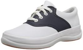Keds School Days II Sneaker Little Kid/Big Kid,White/Navy,1 M US Little Kid - $52.14