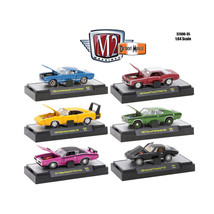 Detroit Muscle 6 Cars Set Release 35 IN DISPLAY CASES 1/64 Diecast Model... - $49.05