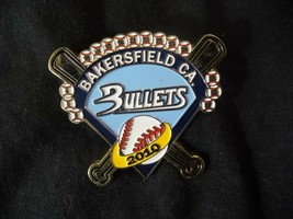 LOT OF 22 BAKERSFIELD CALIFORNIA BULLETS 2010 GOLD TONE METAL BROOCH LAP... - $33.24