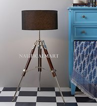 Nauticalmart Marine Designer Tripod Floor Lamp With Black Shade Home Decor - $195.02
