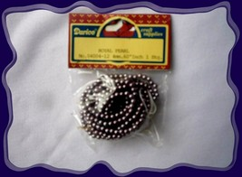 """Darice Craft Royal Purple Pearlized String of 4mm Pearls 60"""" on String N... - $3.00"""