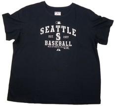 Women's Plus Seattle Mariners Shirt AC Classic Authentic T-Shirt Tee Majestic