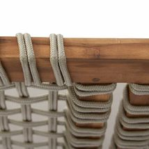 Rustic Cottage Wood & Rope Porch Swing Outdoor Garden Patio Furniture 2 Person  image 3