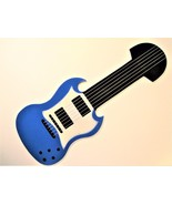 BRIGHT BLUE ELECTRIC GUITAR SHAPED CEILING FAN BLADES - $39.99