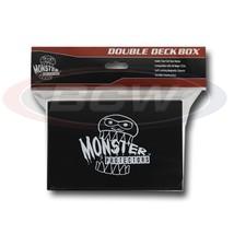 25x  MONSTER PROTECTORS DOUBLE DECK BOX - Matte Black - Magnetic Lock - $116.38