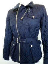 Ralph Lauren Girls Barn Jacket Quilted Motorcycle Navy XL/16/ NWT - $84.99