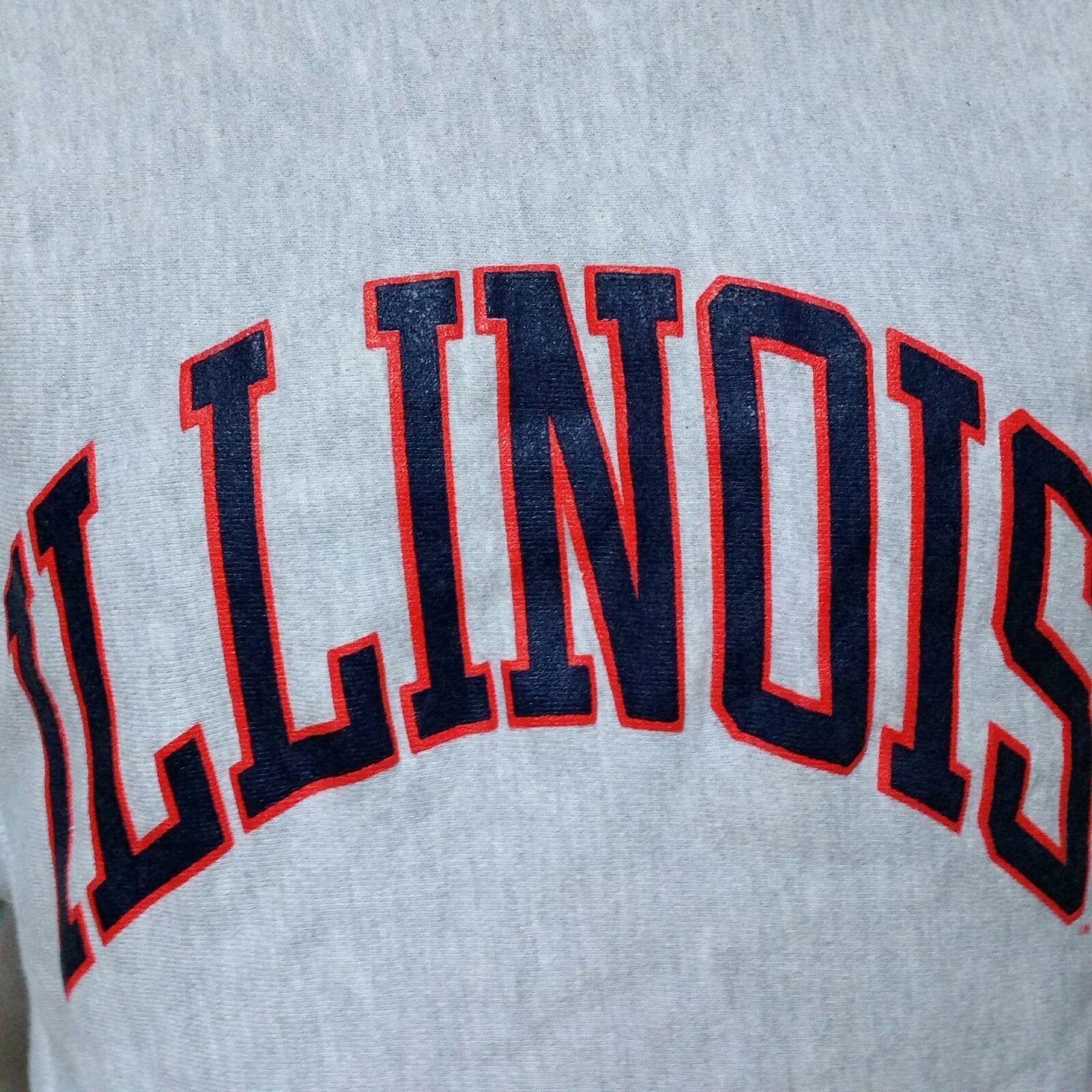 VTG Champion Reverse Weave Sweatshirt Illinois Fighting Illini 80s College XL