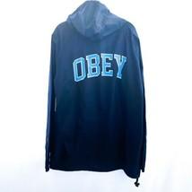 OBEY Academic 1/4 Zip Anorak Windbreaker Jacket Blue XL $88 - $64.34