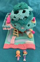Vintage 1994 Polly Pocket Tree House Treehouse w/dolls - Bluebird - $48.50