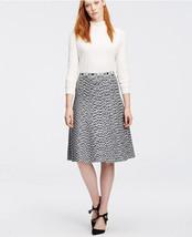 Ann Taylor Spacedye Flared Knit Skirt, Grey Space Dye, Rayon Lycra, Size... - $74.99