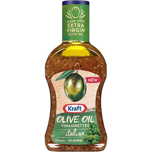 Kraft Italian Olive Oil Vinaigrette Dressing 14 oz Bottles, Pack of 6