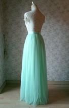 MINT GREEN Full Tulle Skirt Women High Waist Green Wedding Tulle Skirt Plus Size image 6