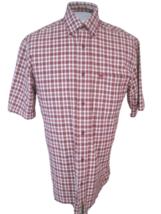 TIMBERLAND WeatherGear Men shirt DRESS short sleeve plaid sz S pit to pi... - $17.81