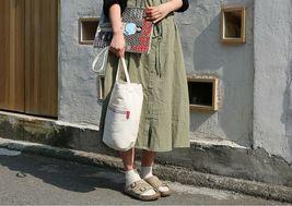 Romane Baguette Tote Bag Cotton Canvas Eco reusable Daily Shopper Bag (Ivory) image 4