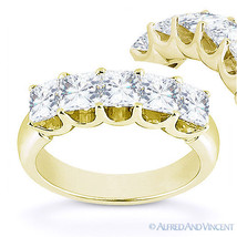 Forever Brilliant Square Cut Moissanite 14k Yellow Gold UProng Ring Wedd... - €908,75 EUR+
