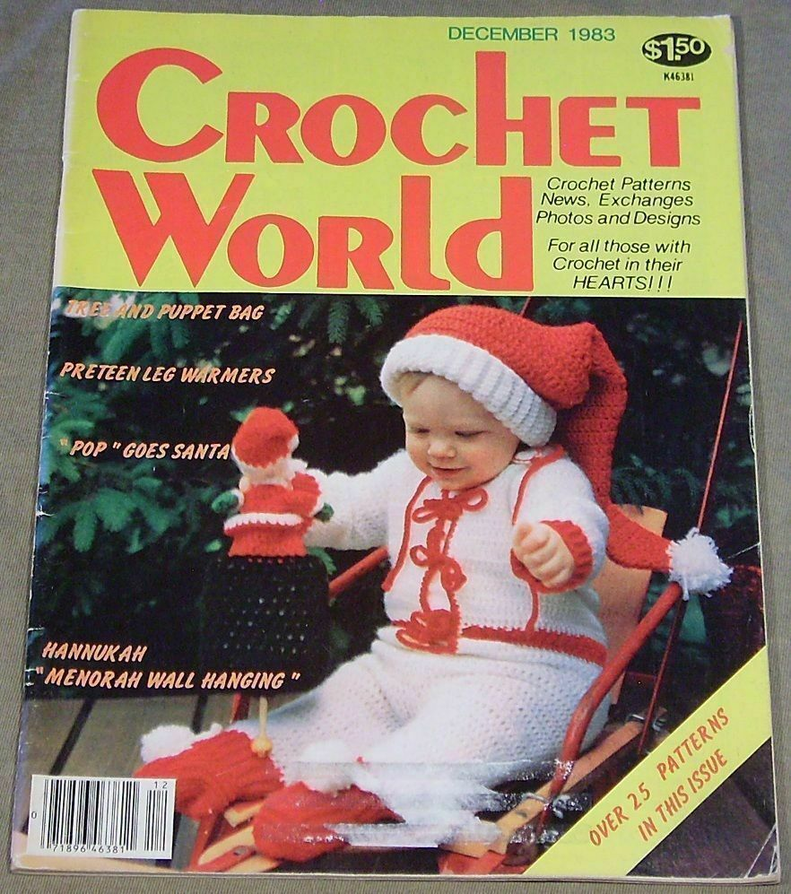 Crochet World December 1983 Featuring Adorable Santa Outfit for Baby - $8.95