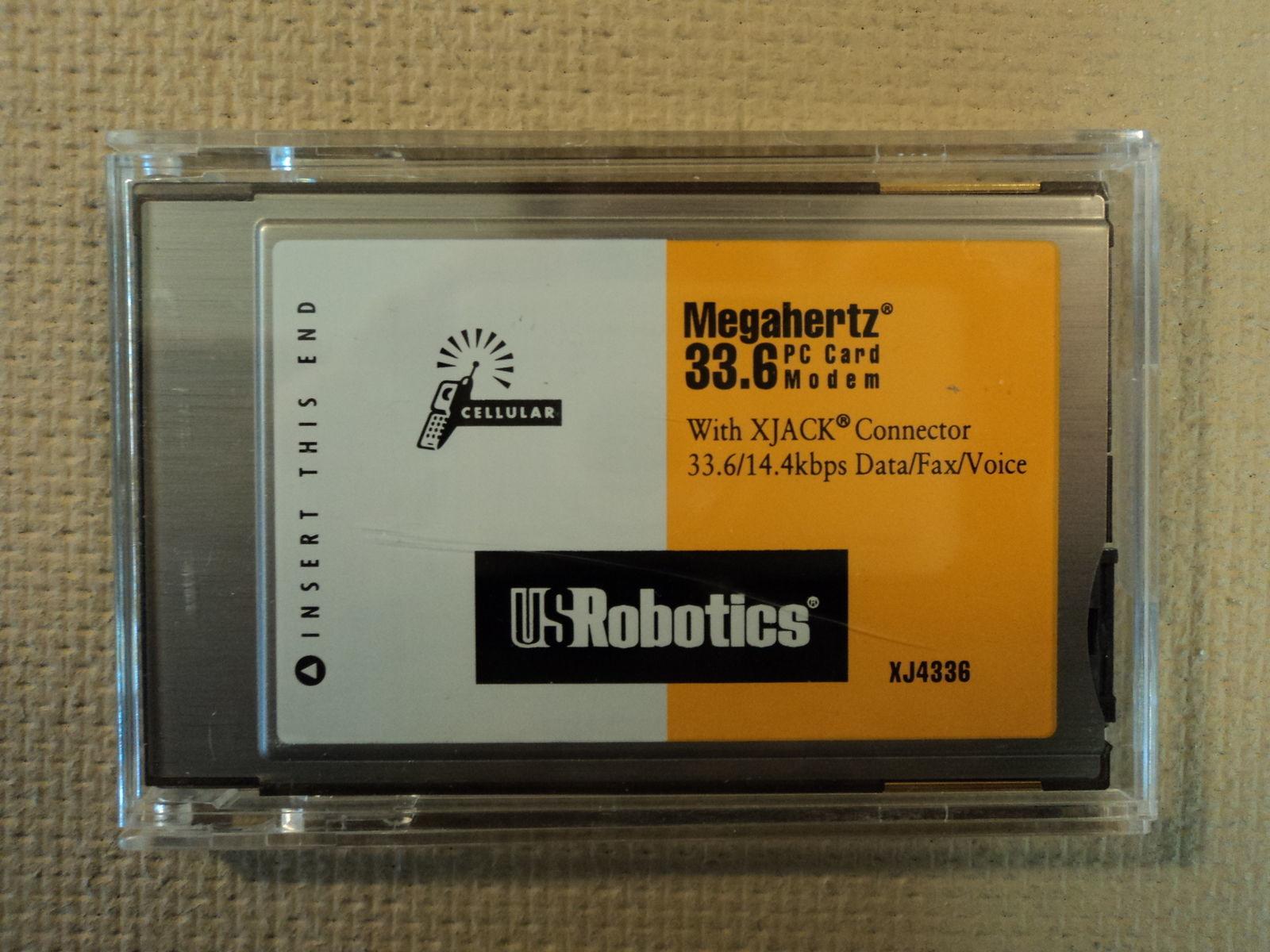 US Robotics Laptop 33.6 Megahertz PC Card Modem Caller ID Phone Answering XJ4336