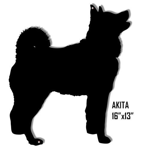 Primary image for Akita Dog Laser Cut Out Reproduction Sign 13x16