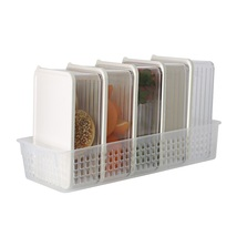 Silicook Refrigerator Food Storage Containers with Tray Kitchen Organizer Set image 1