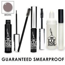 LIP INK  Smearproof Miracle Brow® Tint Kit - Brown Organic Vegan Kosher - $75.04