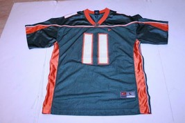 Youth Miami (FL) Hurricanes #11 L (16/18) Football Jersey (Green) Nike - $16.82