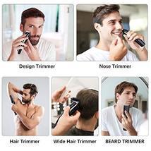 Beard Trimmer for Men, ALLFU Cordless Mustache Trimmer Waterproof Hair Trimmer C image 2