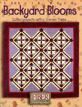 Backyard Blooms Fiber Mosaics Garden Themed Quilting Pattern Booklet NEW - $4.47