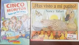 2 Books: ?Has Visto A Mi Patito?  Cinco Monitors Leen en la cama , Spanish - $4.95