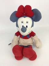 """Minnie Mouse Blue Jean Cowgirl Western Disney Store Large 17"""" Plush Stuf... - $20.74"""
