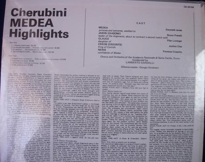 Gwyneth Jones - Cherubini MEDEA Highlights - London OS-26184 - SEALED