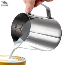 Pitcher Frothing Milk Stainless Steel Oz Espresso Latte Coffee With Meas... - $18.37