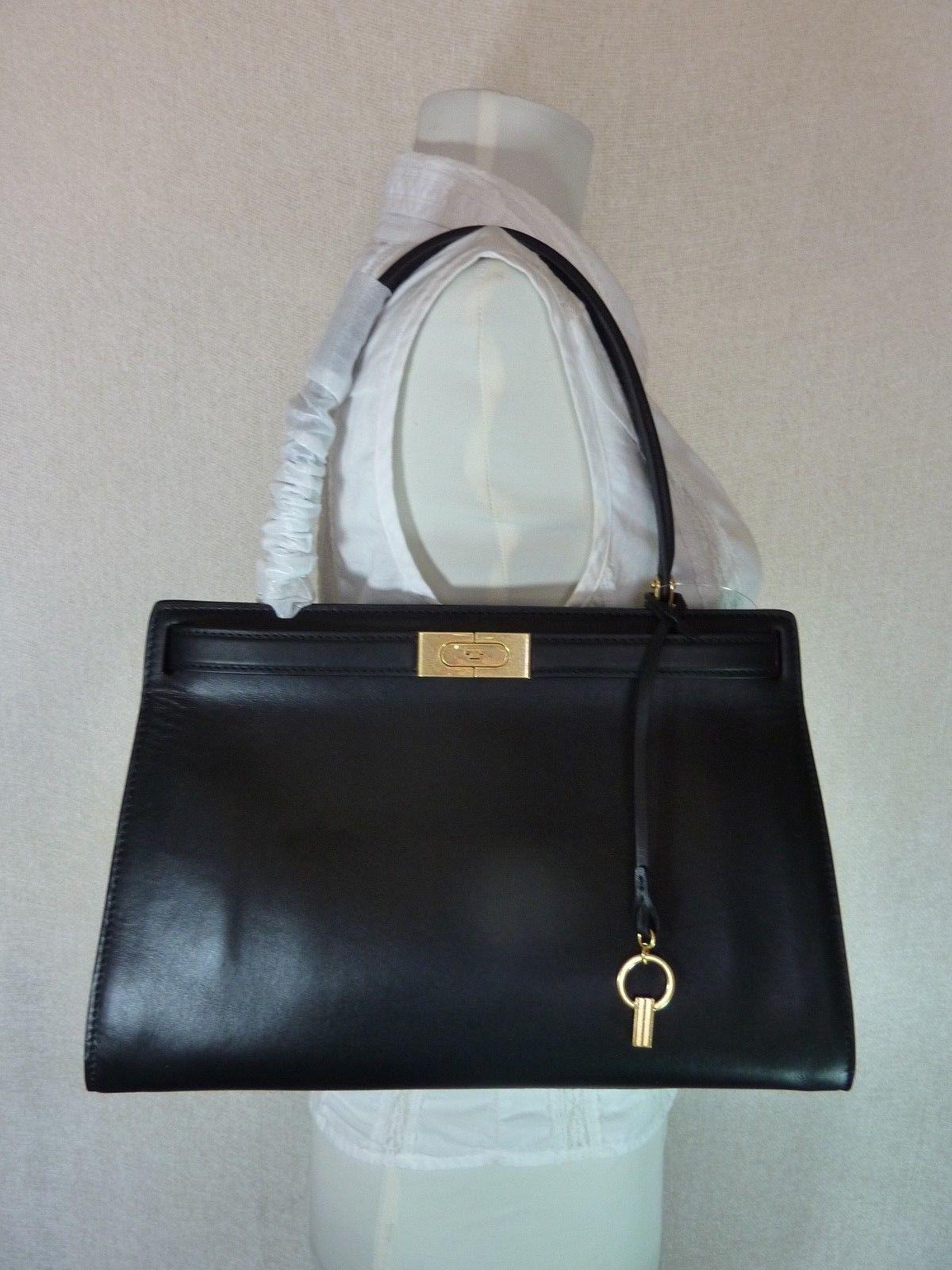 331627df66b4 Nwt Tory Burch Black Leather Lee Radziwill and 50 similar items. S l1600
