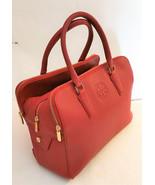 Tory Burch Marion Triple-zip Satchel Leather Bag Redstone - $595.00