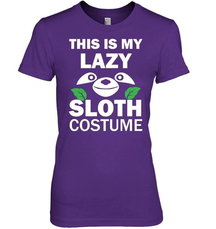 Funny Sloth Halloween Costume Tshirt