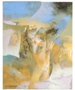 Senza Titolo (Abstract IN Oliva,Blu ,Arancione) Di Eduard Grossman Olio ... - $4,157.97