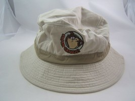 Super Genius Taz Looney Tunes Bucket Hat Beige One Size Tasmanian Devil Cap - $22.52