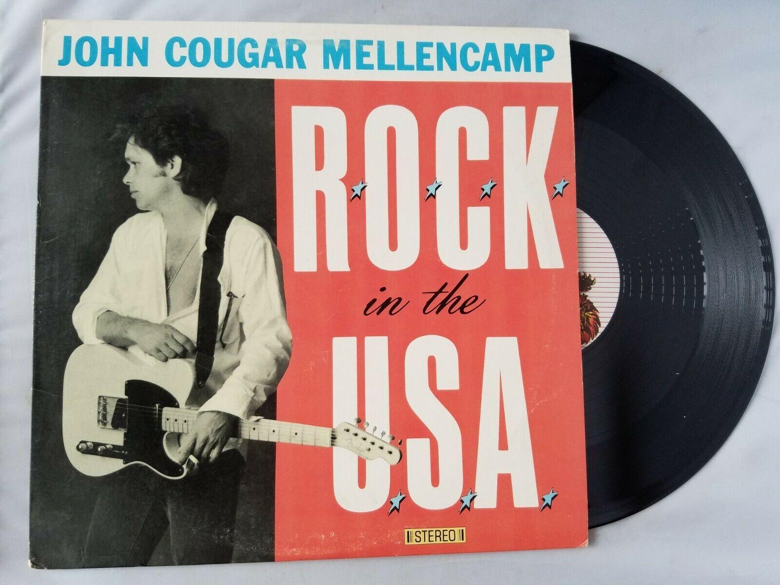 John Cougar Mellencamp Rock In The USA Vinyl Record Vintage 1986 Polygram