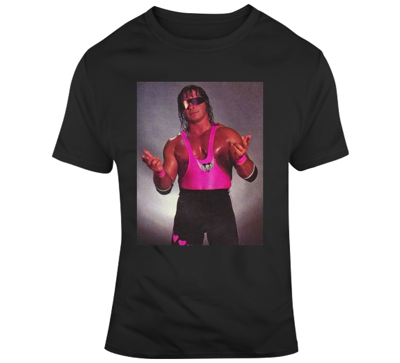 Primary image for  Bret The Hitmn Hart Wrestling Legend Classic Retro Vintage Poster T Shirt