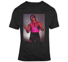 Bret The Hitmn Hart Wrestling Legend Classic Retro Vintage Poster T Shirt - $20.99