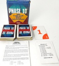 Phase 10 Card Game Fundex Games Old Box Logo 2-6 Players Ages 8+ 1992  - $9.89
