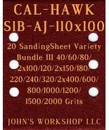 CAL-HAWK S1B-AJ-110x100 - 17 Different Grits - 20 Sheet Variety Bundle III - $18.97