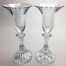 "2 (Two) VINTAGE MIKASA Lead Crystal ""The Ritz"" Single Candle Holder - $13.29"