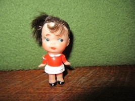 """Vintage & Unique 3"""" Vinyl BABY DOLL BROOCHPin-Japan-Frozen Body-Rooted Hair - $12.00"""