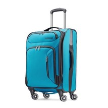 """American Tourister Zoom 21"""" Carry On Spinner Teal Blue 92406-1855 - $99.99"""
