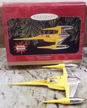 STAR WARS Episode 1 HALLMARK Keepsake Ornament NABOO STARFIGHTER Christm... - $14.73