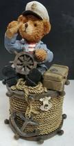 Vintage Resin Sailor/Nautical Bear Bank - $15.45