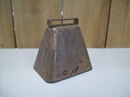 "Vintage Heavy Metal Rustic Cow Bell 4 1/2""  Wide x 4 1/2 Tall Deep Tone ... - $25.00"