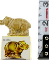 No.20 Hippo LRG Miniature Animal Porcelain Figurine Picture Box Whimsies by Wade image 2